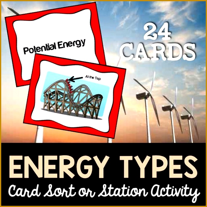 Energy Types Card Sort or Lab Station Activity 684684