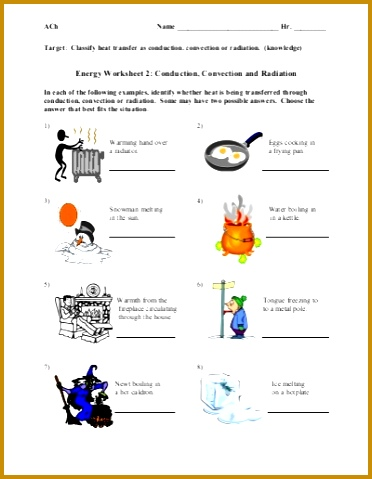Conduction Convection Radiation Worksheet 479372