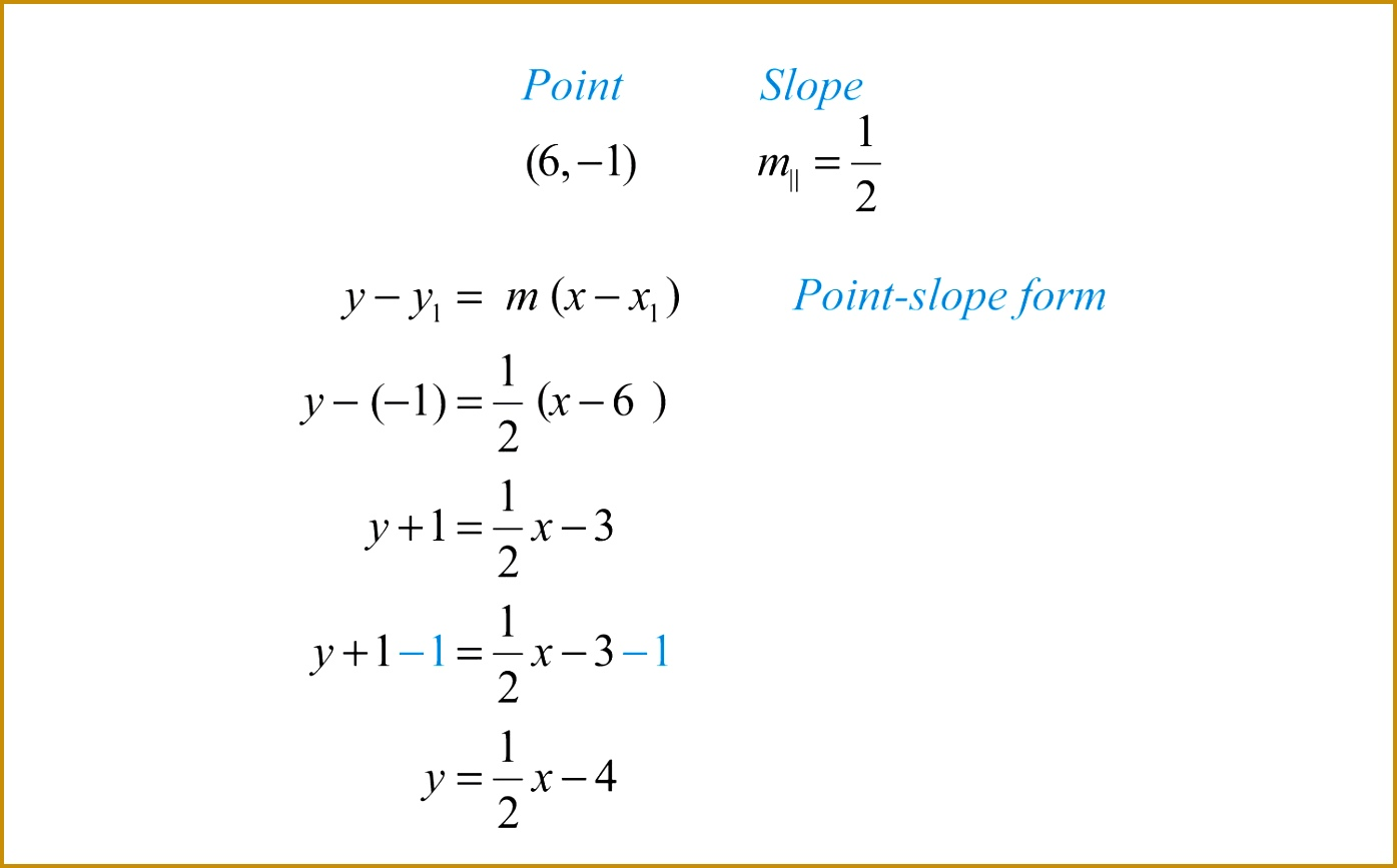 Finding Equations of Parallel and Perpendicular Lines 8671395