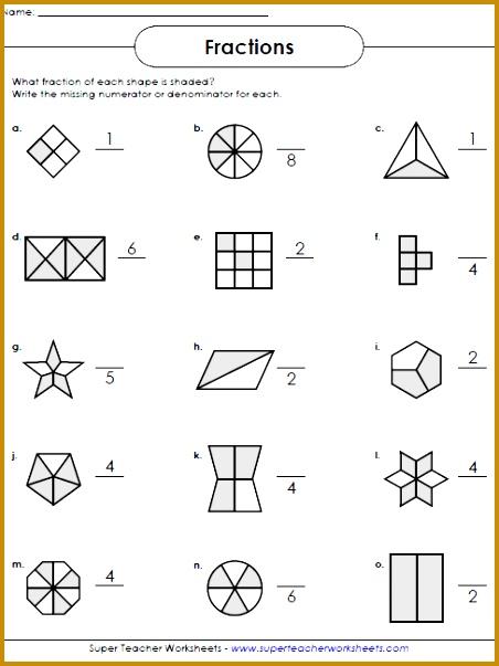 Fractions Worksheets 603452