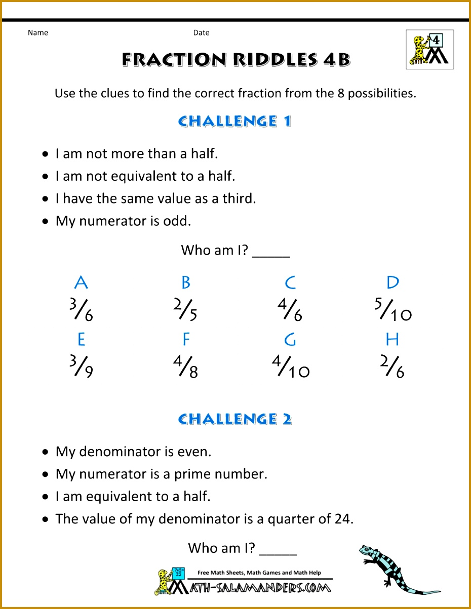 Great Fractions Worksheets Printable For Teachers Free Fraction 1203930