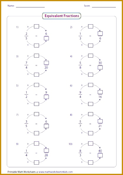Equivalent fraction worksheets contain fraction bars pie models finding missing numbers writing and representing equivalent fractions and more 590416