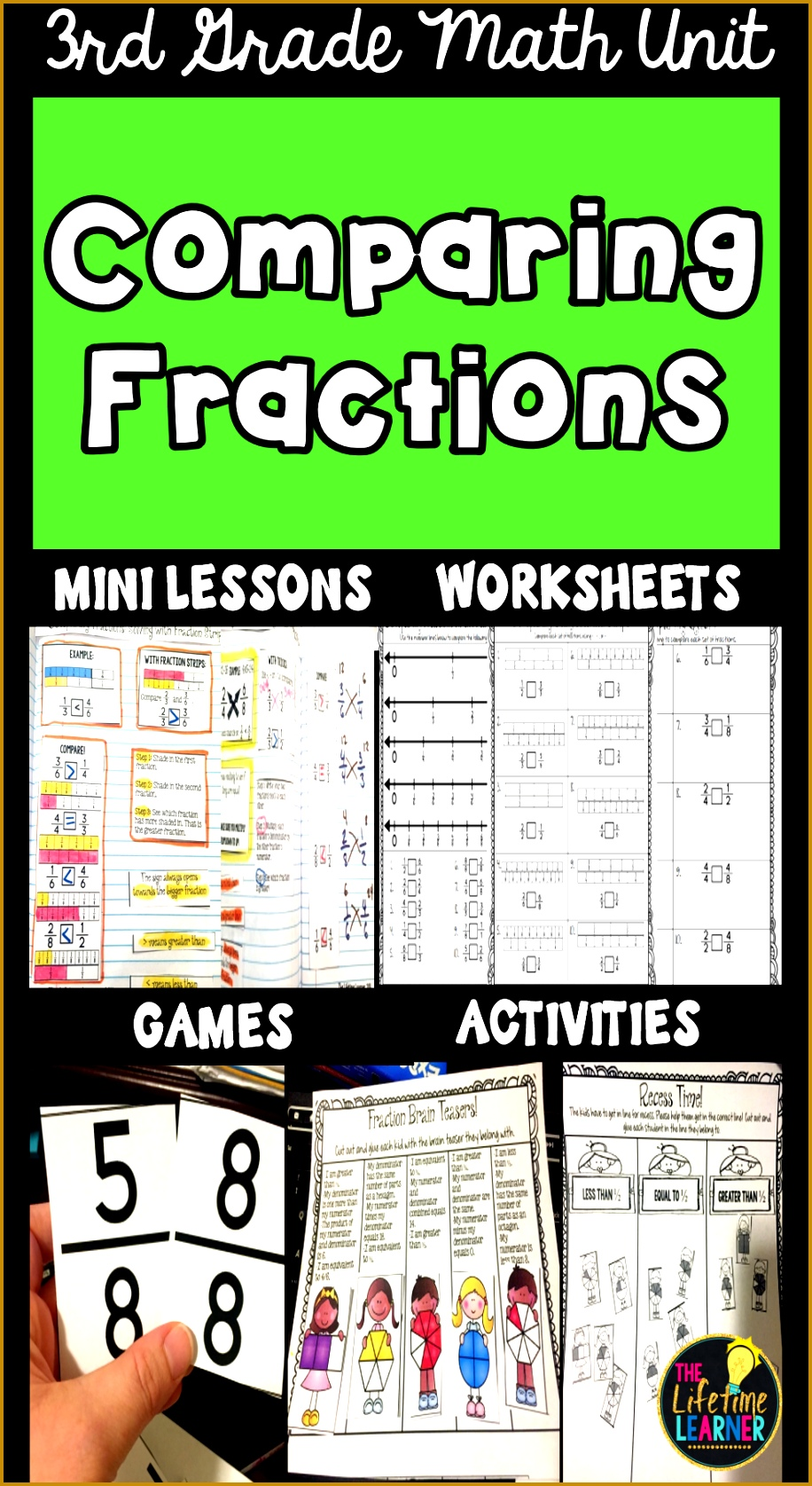 paring Fractions Fraction Worksheets Activities Games 9161675