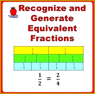 Equivalent Fractions Worksheets 3rd 4th Grade 320325