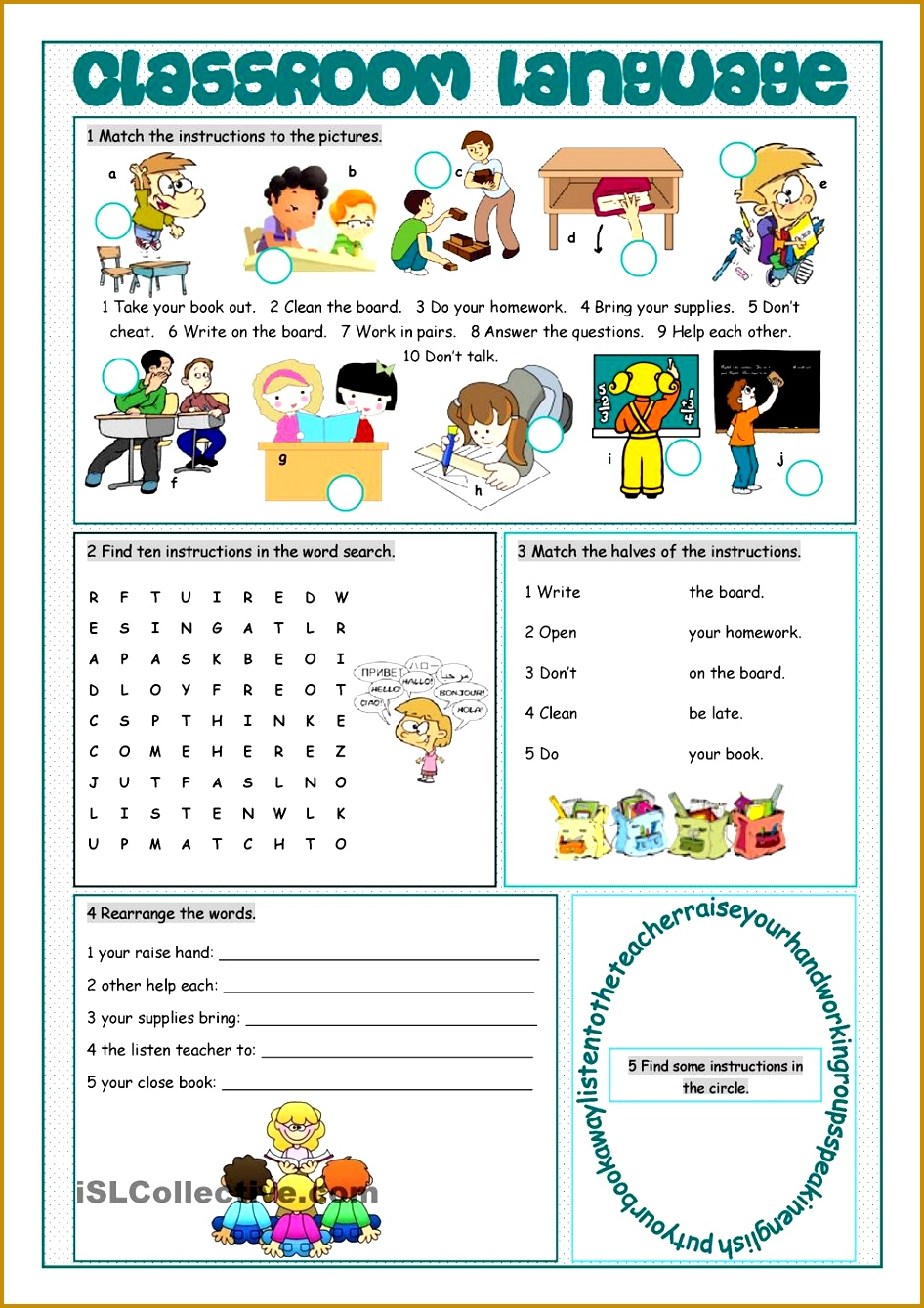 Classroom Language Vocabulary Exercises worksheet Free ESL printable worksheets made by teachers 9461339