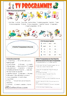Some vocabulary exercises on tv programmes Key included ESL worksheets 381269