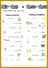 English teaching worksheets This that these those 238167