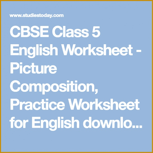 CBSE Class 5 English Worksheet Picture position Practice Worksheet for English pdf Revision 595595