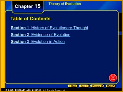 Chapter 15 Table of Contents Section 1 History of Evolutionary Thought 314418