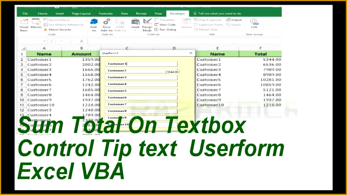 Textbox Sum Total Controltiptext excel VBA 6691190