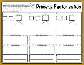 My 5th Grade students love this Prime Factorization with Exponents Dice Game This worksheet works 325251