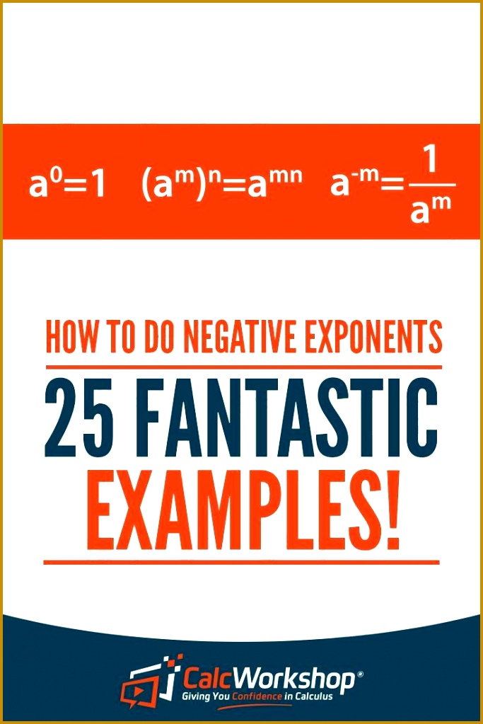 How to do Negative Exponents 25 Amazing Examples 1023683