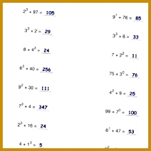 Math Worksheets Addition with Exponents Worksheets 219219