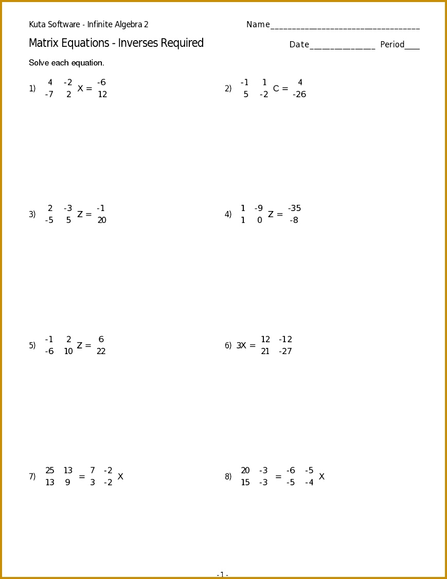 3 Exponential and Logarithmic Equations Worksheet ...