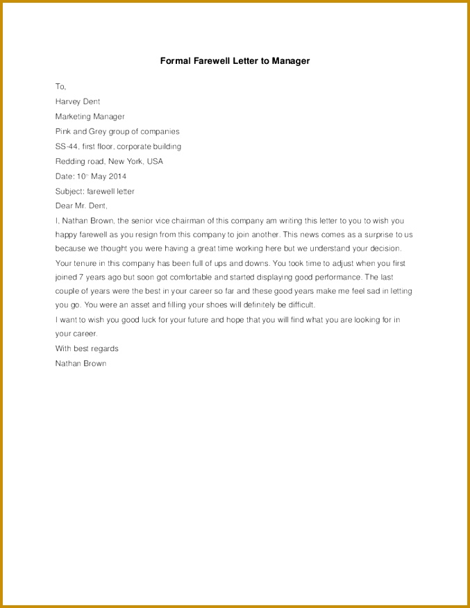 ficial Letter Goodbye Farewell Wish To Colleagues Just B Cause 876677