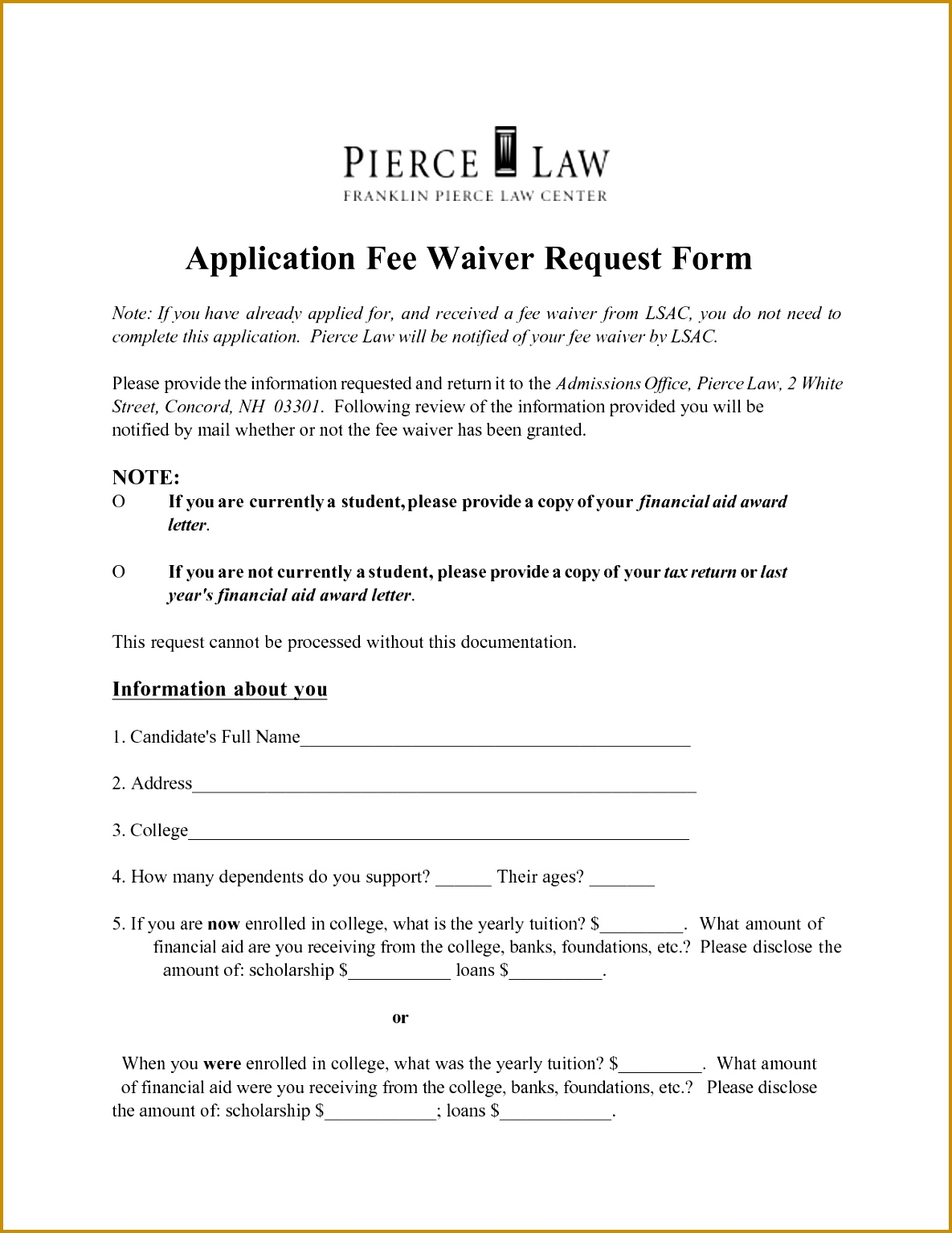 100 Waiver Request Letter Template Appeal Example 15341185