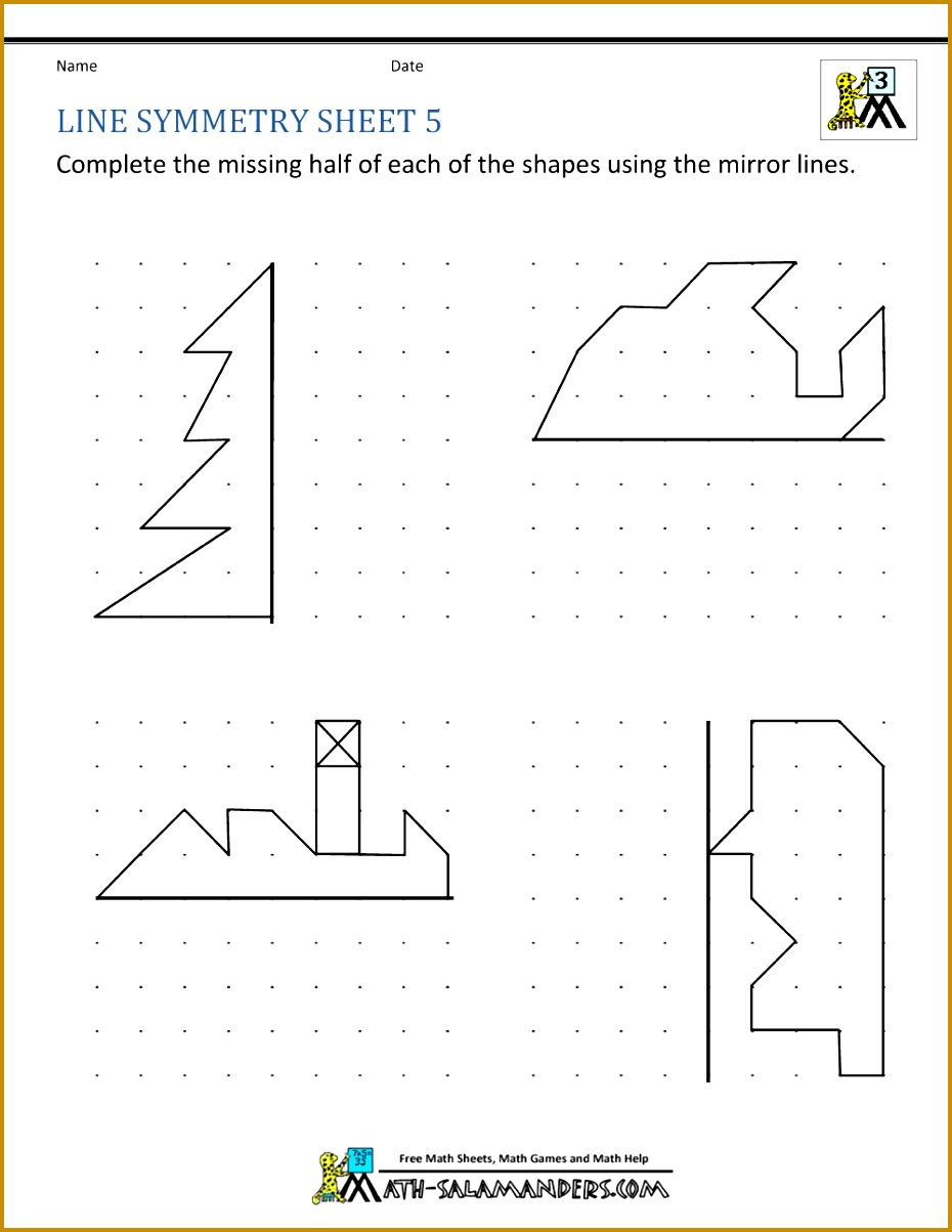 symmetry worksheet line symmetry 5 1000—1294 1203930