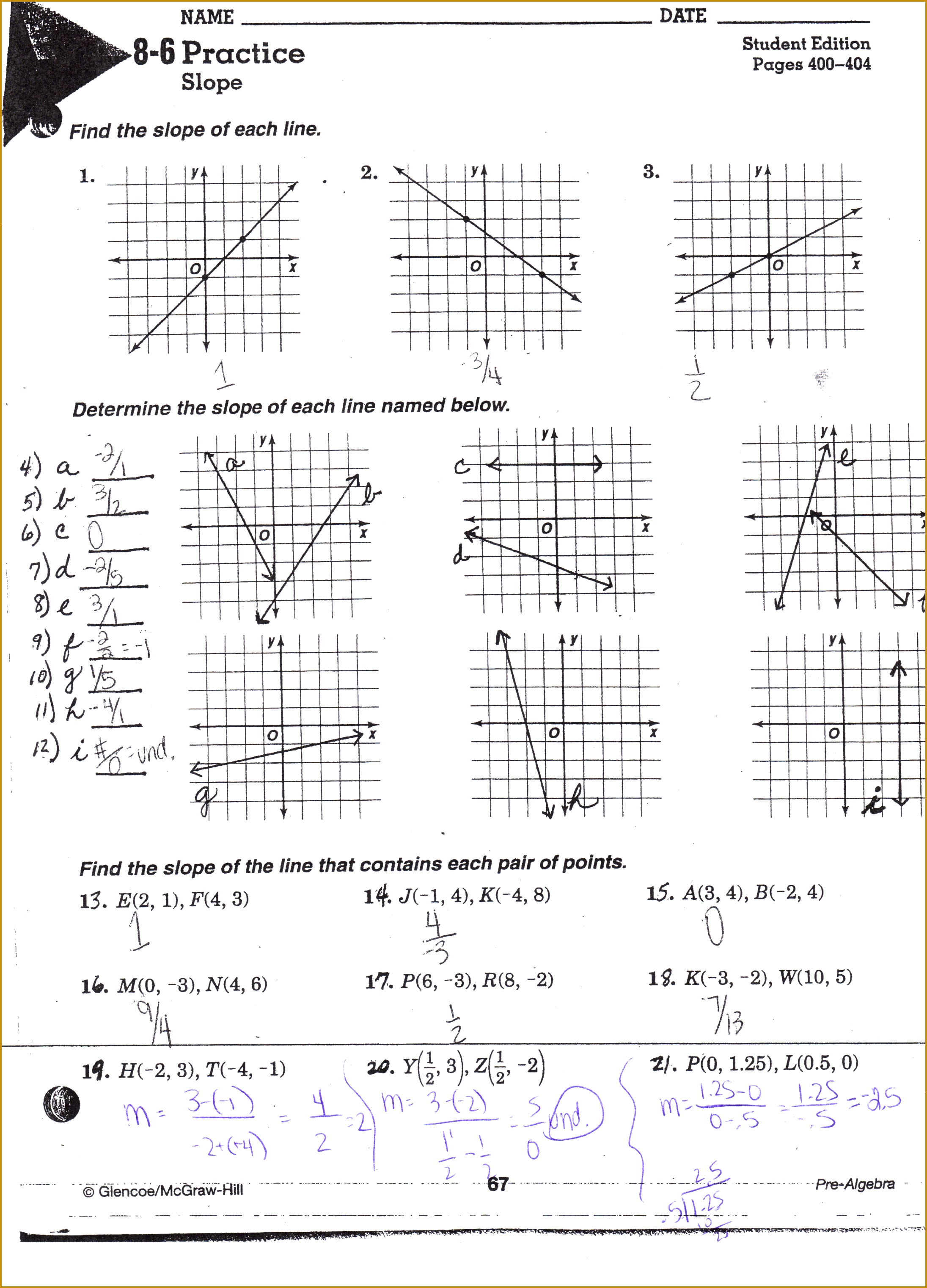 Graphing Linear Equations Worksheets Doc Tessshlo 30432191