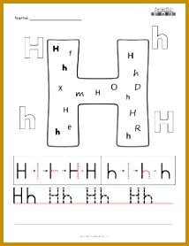 Find The Letter H Worksheet Worksheets for all Download and Worksheets 214278