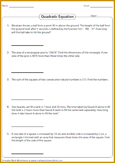 Solve these quadratic equation worksheets using zero product property factorization pleting the square and quadratic formula 532376
