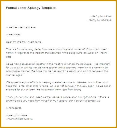 4 Template for Apology Letter 417379