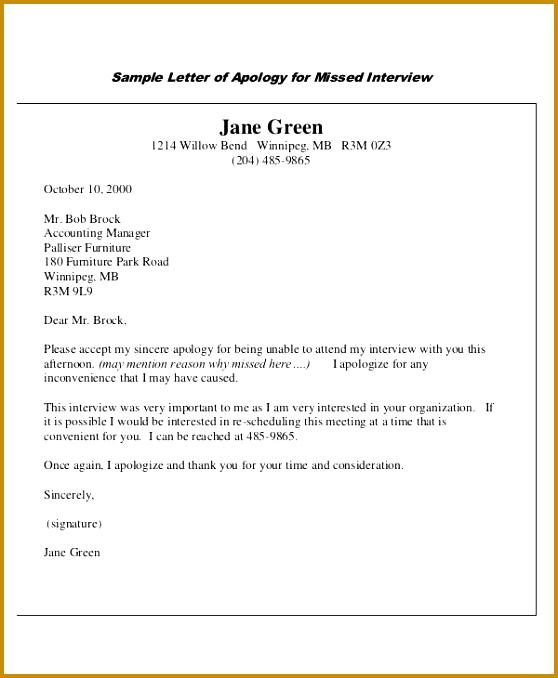 Formal Apology Letter Sample 678558