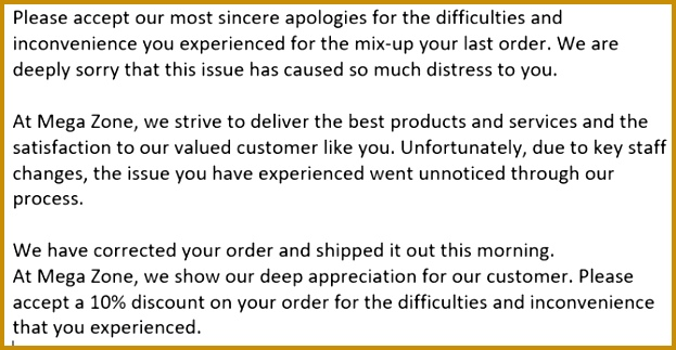 Letter of Apology 323623