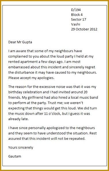 Sample apology letter 591379