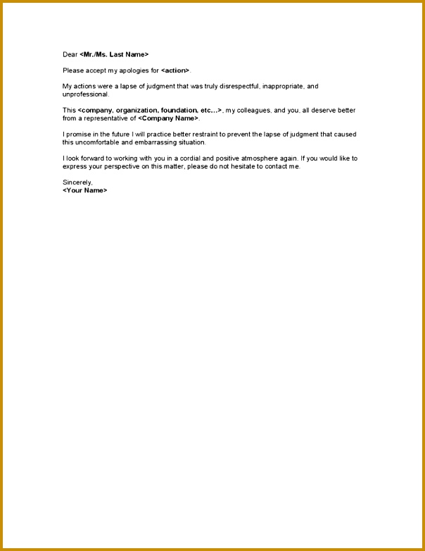 Sample Apology Letter To Boss For Misconduct Other Reason a part of under Business Letter 782604