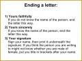 6 formal Letter Rules
