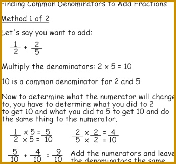 A Method for Finding mon Denominators and Adding Fractions Method 1 to Find mon Denominators 324348
