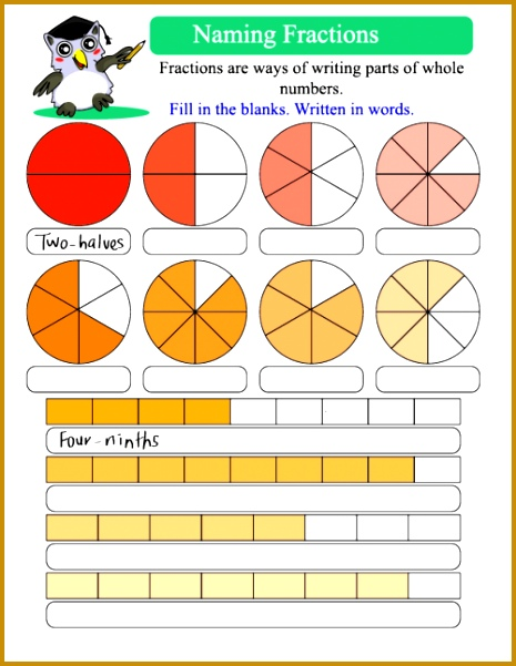 Naming Fractions 2 Free WorksheetsFractions 601465