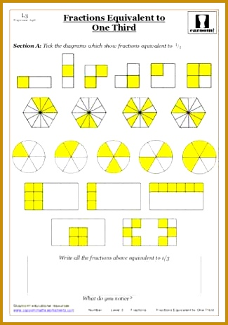 Fractions maths worksheet 462325