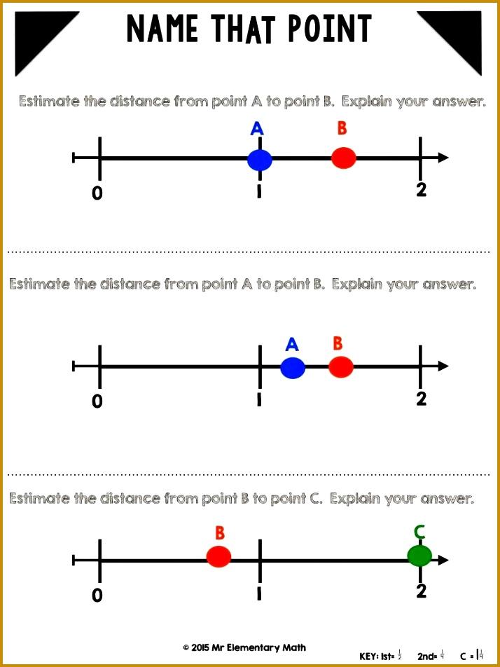 3 Fractions On A Number Line Worksheet