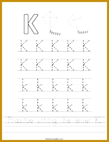 Practice writing the letter K Worksheet Twisty Noodle 283219
