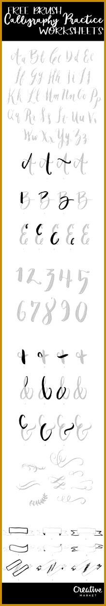 Free Brush Calligraphy Practice Worksheets 1248219