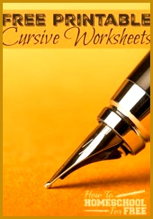 These awesome free printable cursive pages have a 130 page series for beginners plus copywork pages 313219