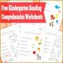 6 Free Kindergarten Worksheets