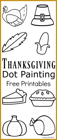 Thanksgiving Dot Painting Free Printables Fall PreschoolToddler PreschoolThanksgiving Activities 535219