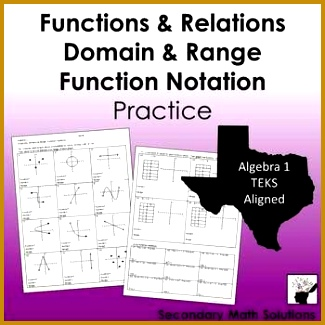 Functions Domain & Range Function Notation Practice 8 5G A12A A12B 325325