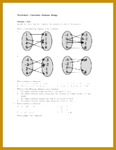 8 pages Worksheet Functions Domain Range 216167