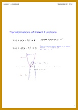9 pages Transformations of Parent Functions 153216