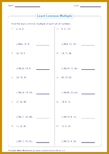 GCF Worksheets on finding the greatest mon factor of whole numbers monomials and polynomials 309219