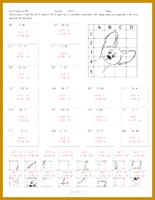 GCF and LCM Puzzle Activity Worksheet 18 problems from CGR educational Consulting on TeachersNotebook 283219