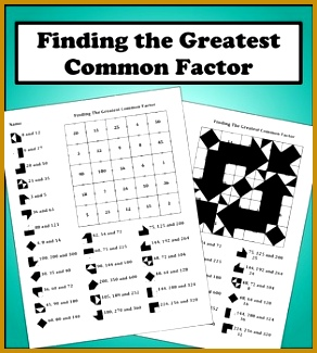 Finding The Greatest mon Factor Color Worksheet 325292