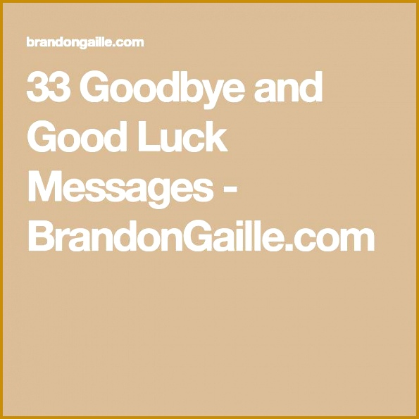 33 Goodbye and Good Luck Messages 595595