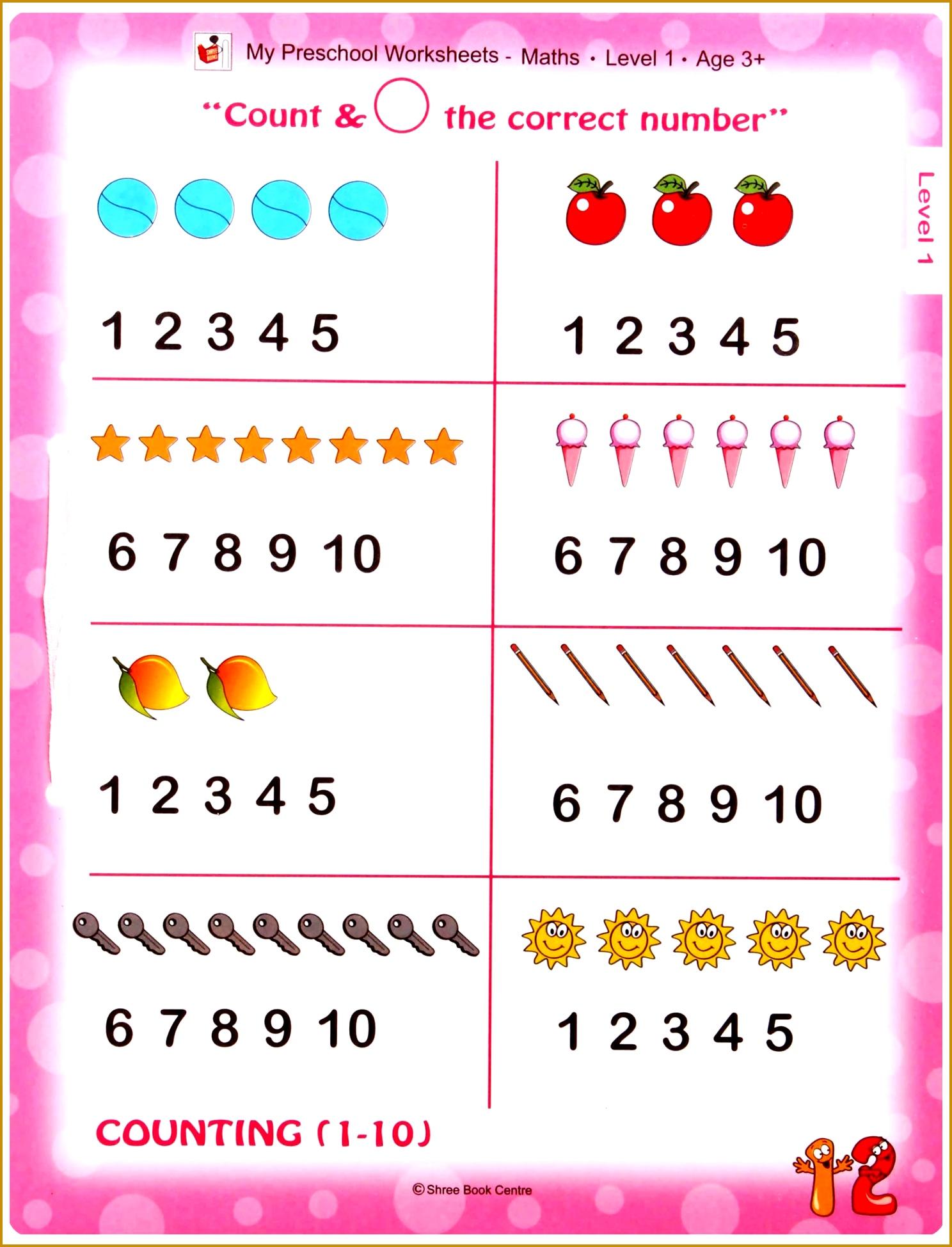 Nursery Maths Worksheets 19491488