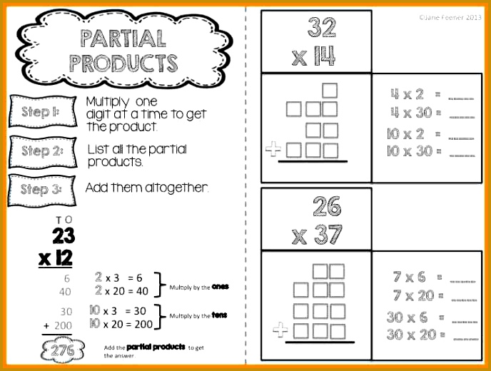 partial products worksheets 69b34c1e6d70dda1716d3f77ce e–math multiplication fractions 688520