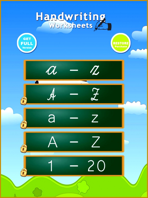 Handwriting Worksheets ABC 123 Educational Games For Children Learn To Write The Letters The Alphabet In Script And Cursive on the App Store 797597