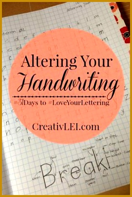 Altering Your Handwriting LoveYourLettering 402269